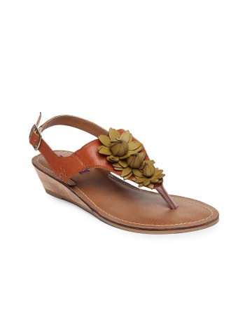 Berry Purple Women Rust Orange & Brown Sandals
