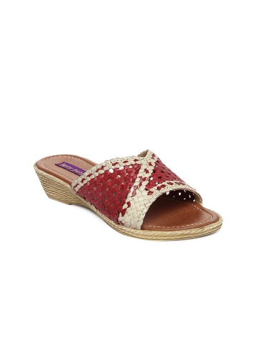 Berry Purple Women Red & Brown Sandals